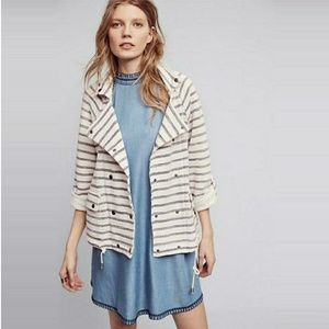 Anthropologie Dolan Nautical Stripe Sweater Jacket